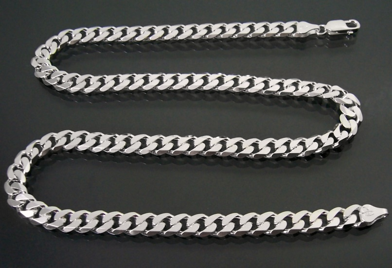 Panzerkette  50 Panzerkette 8mm 925Sterling SILBER Massiv Kette 50cm (92850)