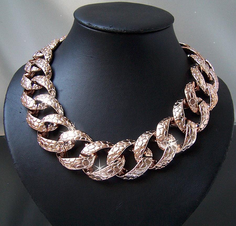 Modeschmuck ketten  Statement Halskette Ketten Collier Armband Blogger chunky ...