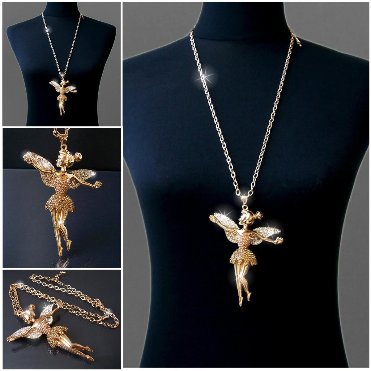 Modeschmuck kette gold  Lange Halskette Kette Silber Gold mit Anhänger Strass Zirkonia ...