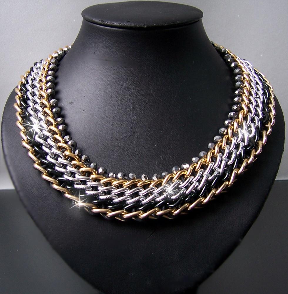 Modeschmuck ketten  Statement Kette Halskette Collier Armband Blogger chunky ...