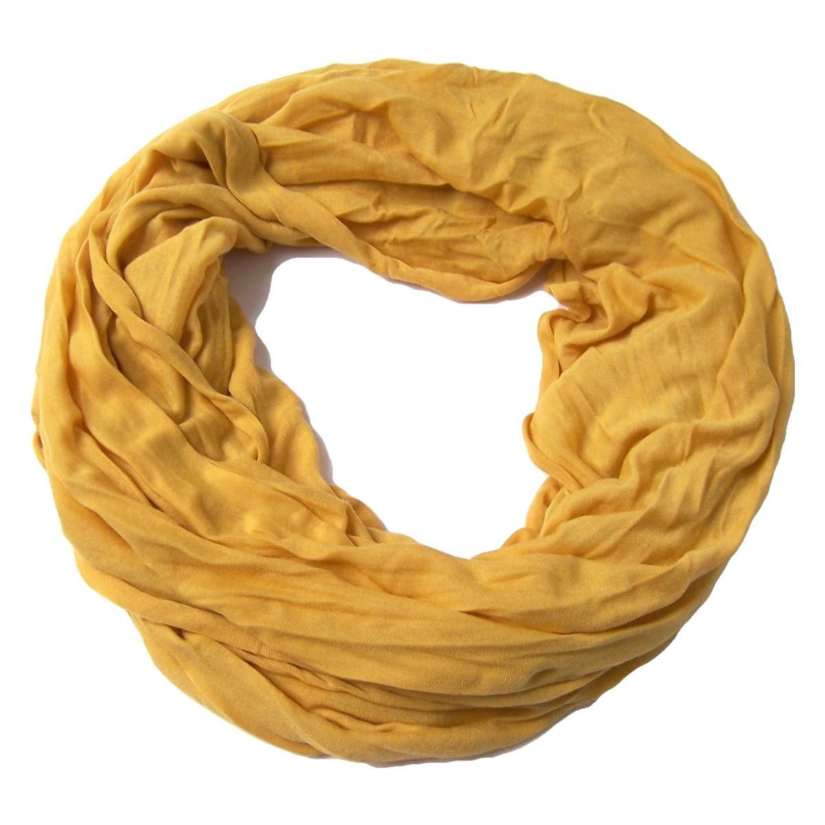 Niklarson Loop Schal Tuch gelb Rundschal 160x45cm unisex Schlauch T7000