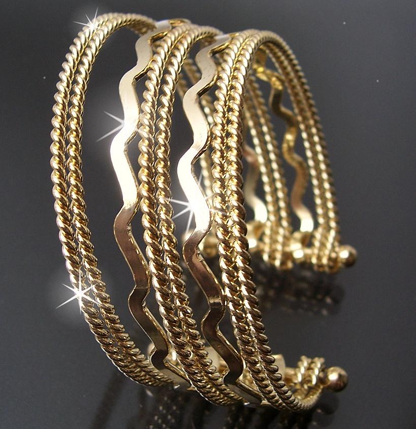 Modeschmuck gold  Armband Armspange mehrreihig Gold Silber Damen ModeSchmuck ...