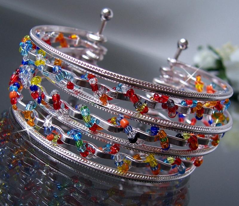 Modeschmuck armband gold  Armband Armspange mehrreihig Gold Silber Damen ModeSchmuck ...
